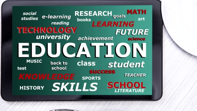 education - back to school - word clouds - exam stock videos & royalty-free footage