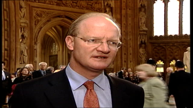 education bill reforms passed with opposition support westminster house of commons int david willetts mp interview sot we could have defeated tony... - house of commons stock videos and b-roll footage