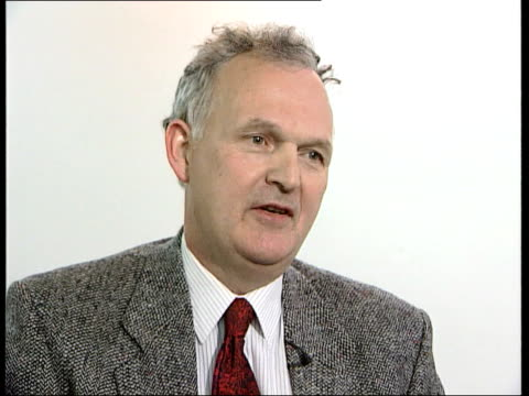 chris woodhead prosecution call itn london paul francis interview sot talks of government reaction to impropriety - prosecution stock videos & royalty-free footage