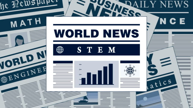 stem education - comprising of science, technology, engineering, and mathematics breaking news newspaper headlines - skill stock videos & royalty-free footage