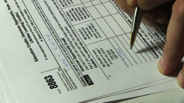Education credit form