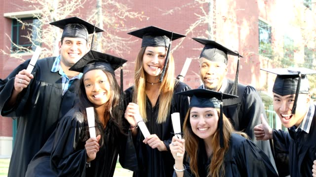 education in united states - mortar board stock videos and b-roll footage