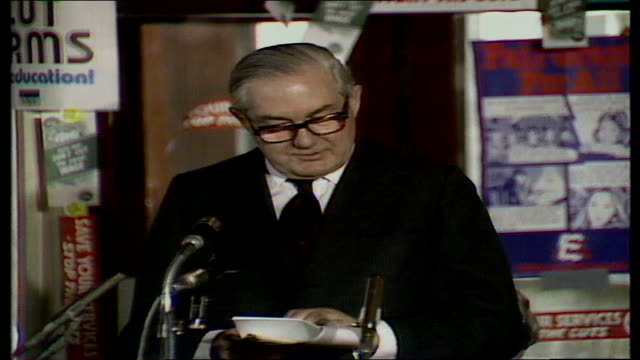 james callaghan calls for national debate; b) james callaghan speech england, oxford, ruskin college prime minister callaghan speech sof - the... - oxford england stock videos & royalty-free footage