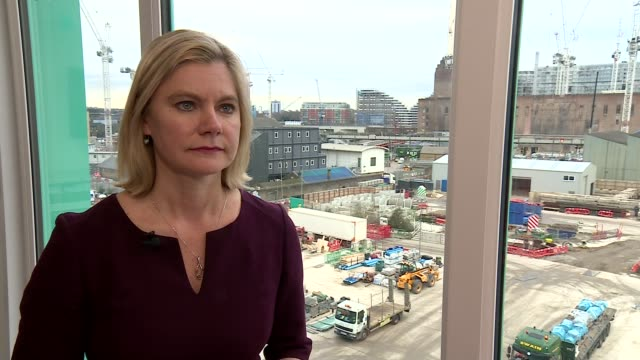 Education Secretary Justine Greening visits Thames Tideway Tunnel project Justine Greening MP interview SOT on apprenticeships / Pay row over...