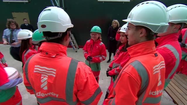 Education Secretary Justine Greening visits Thames Tideway Tunnel project EXT Various Education Secretary Justine Greening meeting with apprentices...