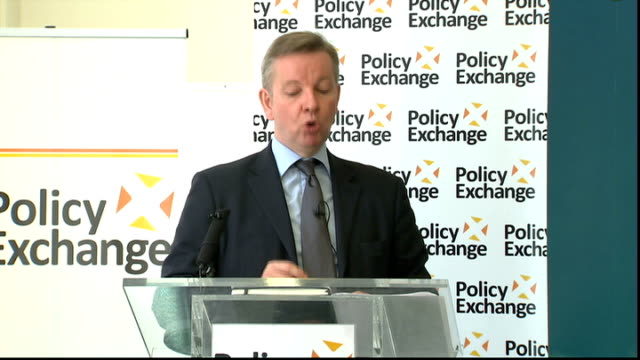 stockvideo's en b-roll-footage met education secretary speech on free schools; michael gove mp speech sot - we are constantly reviewing and refining the programme to help get... - kwaliteit
