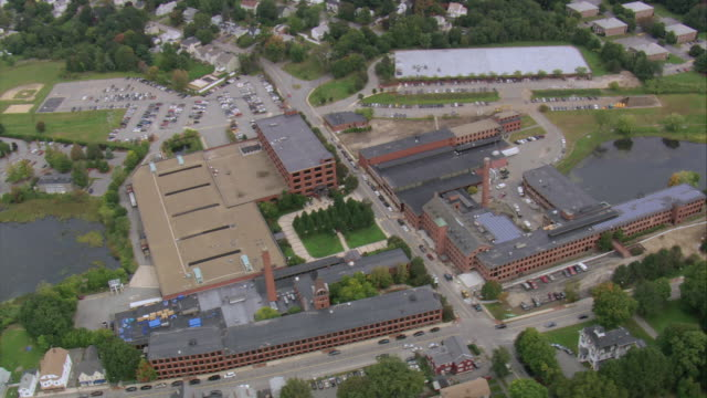 AERIAL Educational campus with courtyard / North Andover, Massachusetts, United States