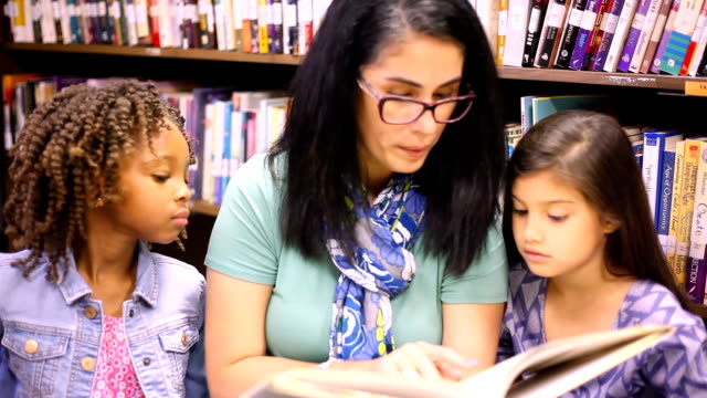 education.librarian reads book to elementary students in library or classroom. - librarian stock videos & royalty-free footage