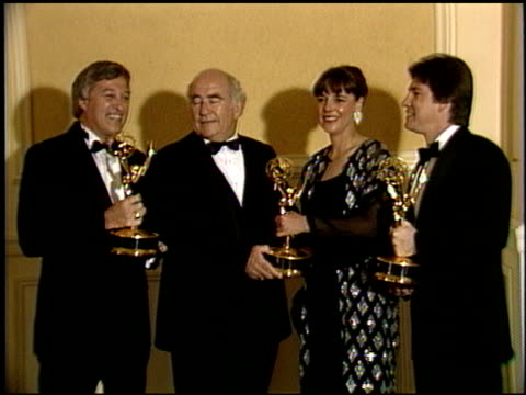 Edward Asner at the 1986 Technical Emmy Awards at the Pasadena Civic Auditorium in Pasadena California on September 14 1986