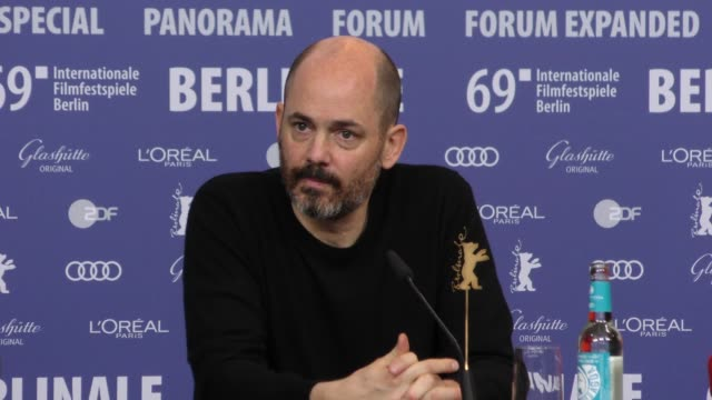 Edward Berger attends 'All My Loving' press conference during the 69th Berlinale International Film Festival Berlin at Grand Hyatt Hotel on February...