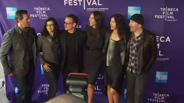 Edward Burns Ali Hewson Bono Christy Turlington Burns Morleigh Steinberg The Edge at the Premiere Of 'No Woman No Cry' 9th Annual Tribeca Film...
