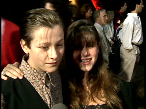 edward furlong and soleil moon frye talk to reporters at the premiere of point break. - edward furlong stock videos & royalty-free footage