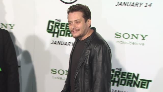 edward furlong at the 'the green hornet' premiere at hollywood ca. - edward furlong stock videos & royalty-free footage