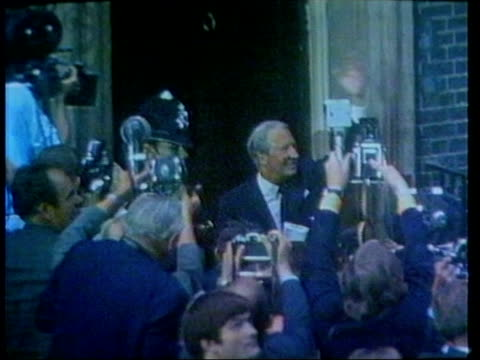 edward heath announces retirement from commons lib edward heath mp waving outside no10 after winning election int edward heath signing 1972 treaty of... - 1972 stock videos & royalty-free footage