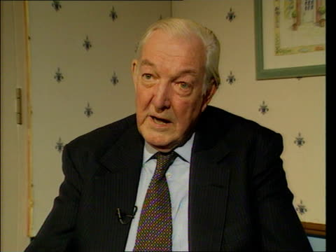 edward heath announces retirement from commons lord carlisle interviewed sot what he stood against was in fact the overwhelming power of the trade... - edward heath stock-videos und b-roll-filmmaterial