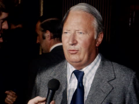 edward heath states how delighted he is with the result of the eec referendum - european union stock videos & royalty-free footage