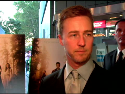 Edward Norton/ Actor He wears a suit by Armani He speaks about how he got involved in 'The Illusionist' an amazing illusion he saw yesterday done by...
