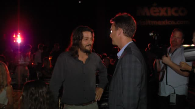 Edward Norton and Diego Luna at Edward Norton honored at the Baja International Film Festival on 11/17/12 in Cabo San Lucas Mexico