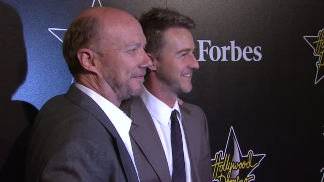 edward norton and paul haggis at 5th annual hollywood domino gala presented by bovet 1822 benefitting artists for peace and justice on 02/23/12 in... - paul haggis stock videos and b-roll footage