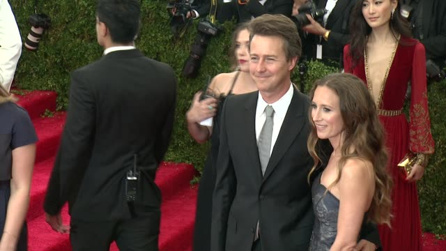 Edward Norton and Shauna Robertson at China Through The Looking Glass Costume Institute Benefit Gala Arrivals at Metropolitan Museum of Art on May 04...
