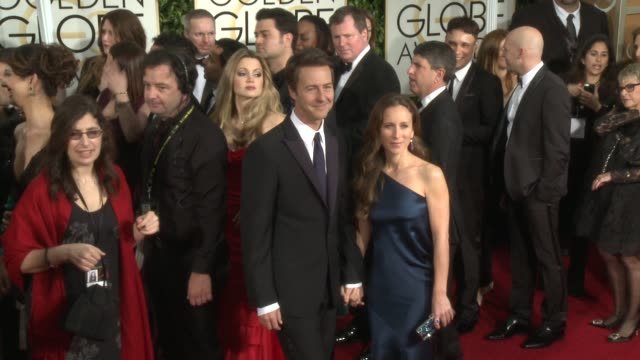 Edward Norton at the 72nd Annual Golden Globe Awards Arrivals at The Beverly Hilton Hotel on January 11 2015 in Beverly Hills California