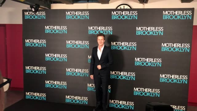 edward norton attends a jazz night inspired by his latest film, motherless brooklyn, in central london, ahead of completing a q&a. norton wrote... - attending stock videos & royalty-free footage