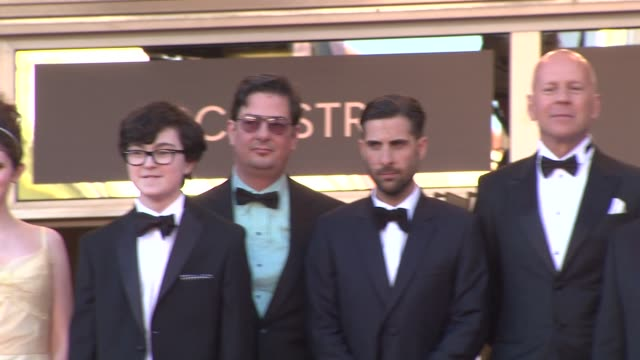 edward norton bruce willis tilda swinton wes anderson kara hayward and jared gilma at opening film moonrise kingdom premiere 65th cannes film... - bruce willis stock videos and b-roll footage