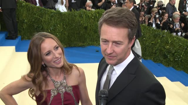 INTERVIEW Edward Norton on being in Anna Wintour's inner circle at 'Rei Kawakubo/Comme des Garcons Art Of The InBetween' Costume Institute Gala...