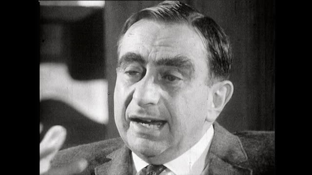 edward teller explains that he feels dropping the atomic bombs on hiroshima and nagasaki has created a negative impression towards physics and... - pros and cons stock videos & royalty-free footage