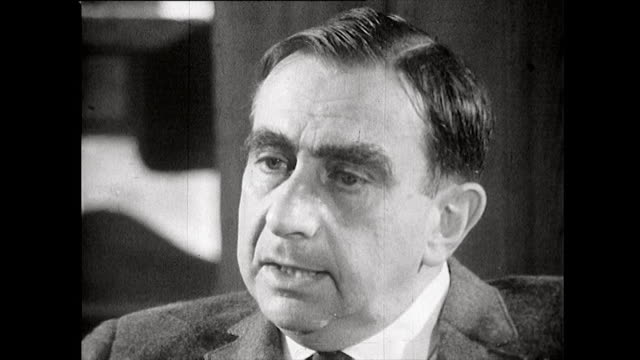 edward teller father of the hydrogen bomb feels that dropping the bomb on hiroshima without prior demonstration to the japanese was a mistake 1965 - weapons of mass destruction stock videos & royalty-free footage