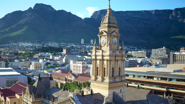 edwardian architecture of the old cape town city hall - local landmark stock videos and b-roll footage