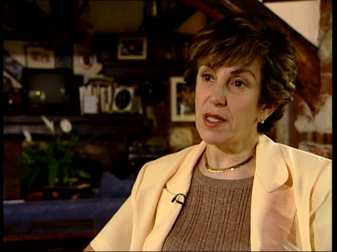 vídeos y material grabado en eventos de stock de edwina currie interviewed sot i think really culpable person is john major because he had been in whip's office at thatcher's side as archer's... - seto
