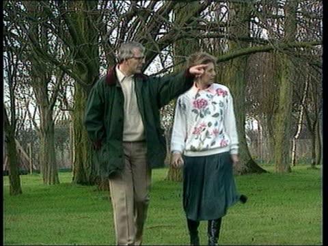 edwina currie reveals affair with john major lib john major wife norma major walking in park - john major stock videos & royalty-free footage