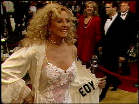 edy williams at the 1992 academy awards at dorothy chandler pavilion in los angeles california on march 30 1992 - dorothy chandler pavilion stock videos & royalty-free footage