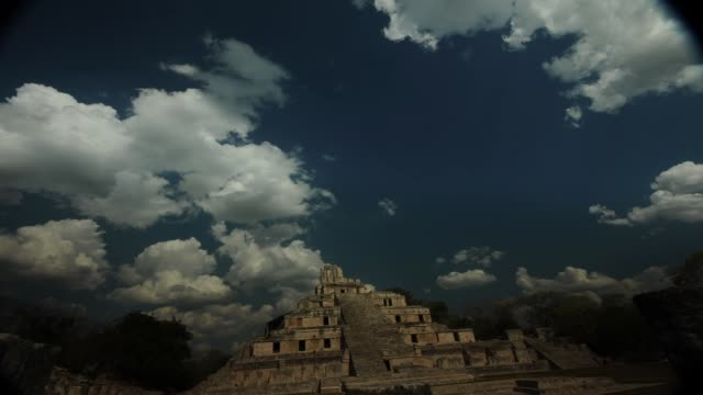edzna  pyramid - edzna stock videos and b-roll footage
