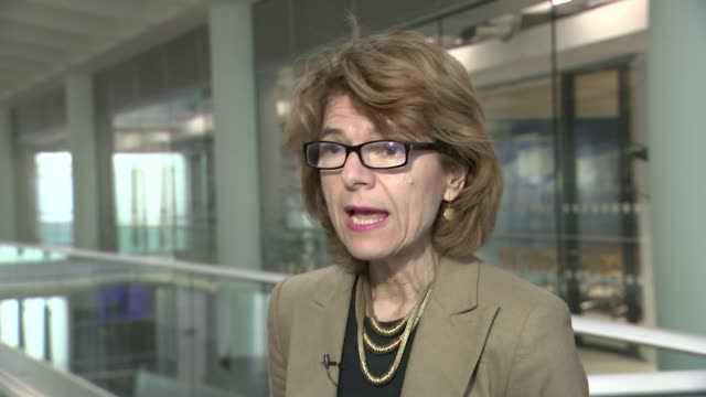 effect of greek debt crisis on tourists england london int vicky pryce interview sot - ビッキー・プライス点の映像素材/bロール
