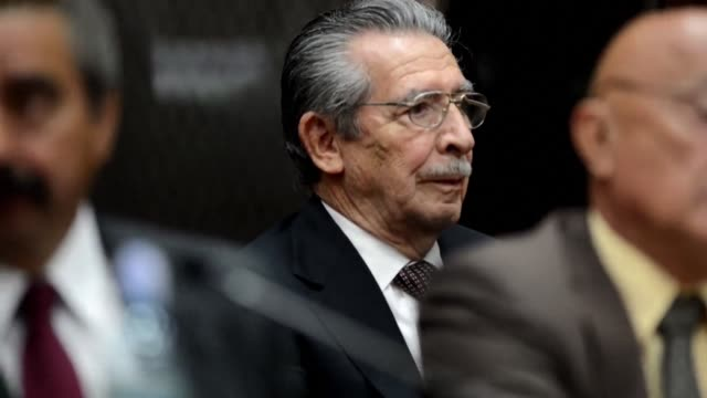 efrain rios montt a former military dictator who ruled guatemala between 1982 and 1983 and who was facing retrial on genocide charges died on sunday... - guatemala stock videos & royalty-free footage