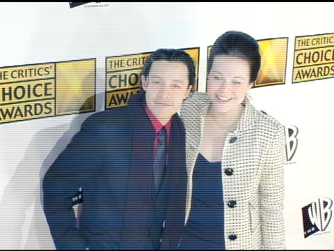 efren ramirez and tina majorino at the 2005 critics' choice awards at the wiltern theater in los angeles california on january 10 2005 - tina majorino stock videos and b-roll footage