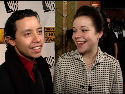 efren ramirez and tina majorino on working on 'napoleon dynamite' on response to the film on favorite memories from the shoot and the film's critical... - tina majorino stock videos and b-roll footage