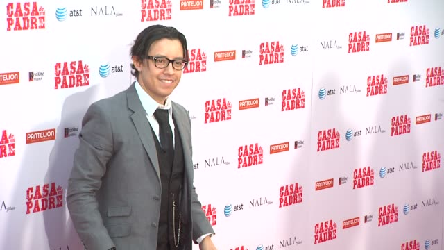 efren ramirez at casa de mi padre los angeles premiere on 3/14/12 in los angeles ca - padre stock videos & royalty-free footage