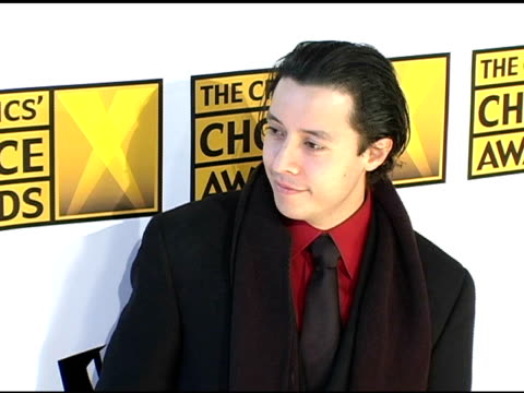 efren ramirez at the 2005 critics' choice awards at the wiltern theater in los angeles california on january 10 2005 - wiltern theater stock videos and b-roll footage