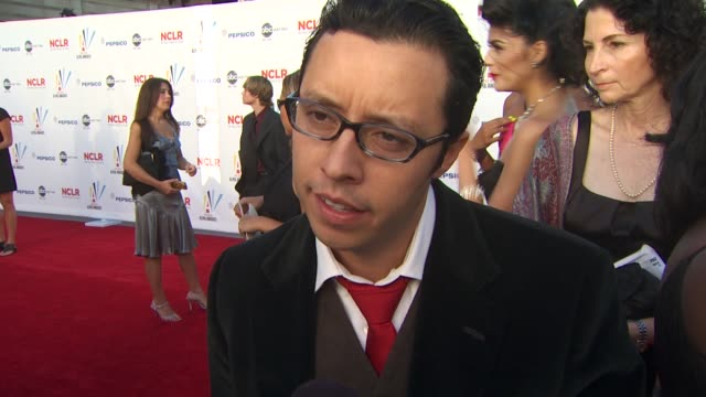 efren ramirez on the importance of the alma awards and his role as a presenter at the 2009 alma awards at westwood los angeles ca - alma awards stock videos and b-roll footage