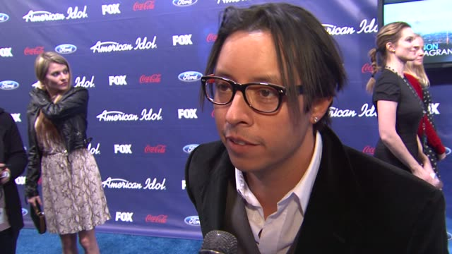 efren ramirez on why he came out tonight and his latest projects at meet the american idol judges finalists on 3/1/2012 in los angeles ca - american idol stock videos and b-roll footage