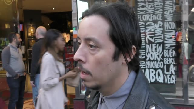 efren ramirez talks about what tv show he would like to see as a movie outside the chips premiere at tcl chinese theatre in hollywood - celebrity... - teatro cinese tcl video stock e b–roll