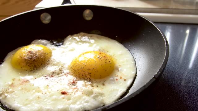 Eggs Frying in a Pan 4K