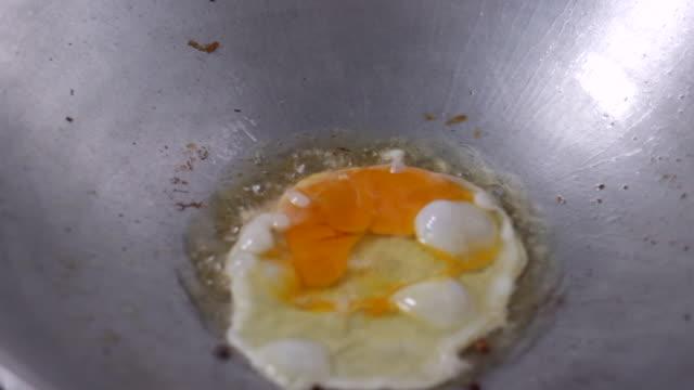 eggs frying in a pan - pan greek god stock videos & royalty-free footage
