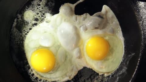 eggs frying - breakfast stock videos & royalty-free footage