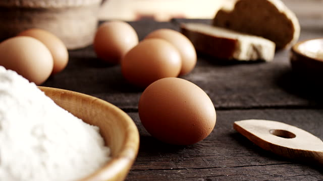 eggs, pasta, flour... - egg stock videos & royalty-free footage