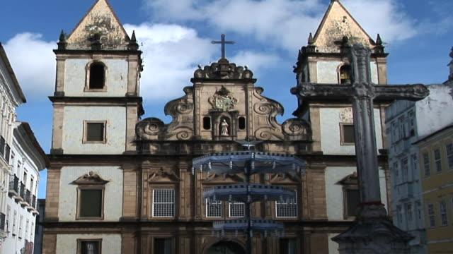 ws td eglise san francisco, salvador, bahia, brazil - bahia state stock videos & royalty-free footage