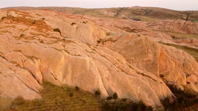 egribucak rocks, sivas city - aircraft point of view stock videos & royalty-free footage